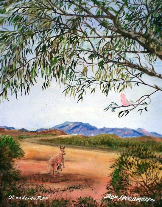 Kangaroo Painting by Rex Woodmore http://art-sale.weebly.com