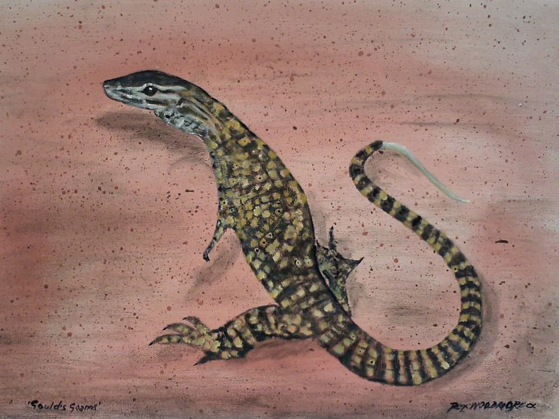 Goulds Goanna  by Rex Woodmore http://art-sale.weebly.com