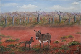 Desert Donkeys  by Rex Woodmore http://art-sale.weebly.com
