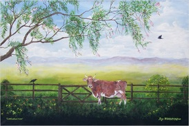 Contented cow painting by Rex Woodmore http://art-sale.weebly.com